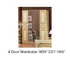 replacement kitchen cupboard doors exeter esf furniture aida 2 door wardrobe in ivory w gold