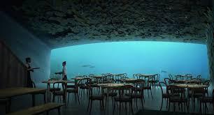 cool design for underwater restaurant in norway boing boing