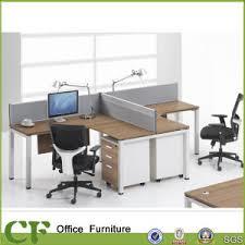 bureau 2 personnes 2 personnes t modulaire forme moderne d armoires de bureau bureau de