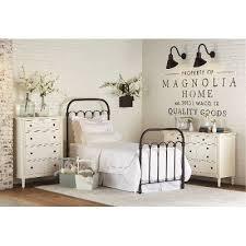 magnolia home furniture blackened bronze twin metal bed rc