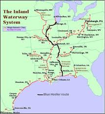 tombigbee waterway map part 3 chicago to the gulf of mexico inland waterways s v