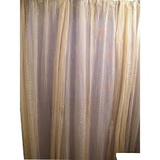 Curtains Drapes Early 20th Century Lace Curtains Drapes Set Of 3 Panels Ivory
