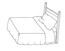 Drawing Of A Bed Bed Line Drawing Cpgworkflow Com