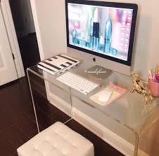 Minimalist Desks Love The Acrylic Desk The Gold Accessories And Minimalist Look