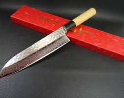 Japanese Style Kitchen Knives Santoku Knife Etsy