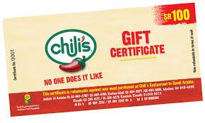 chili gift card chilis saudi arabia gift card