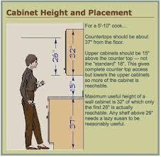 kitchen cabinet height best standard kitchen cabinet height