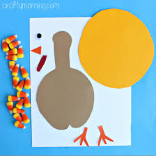 corn turkey craft for thanksgiving crafty morning
