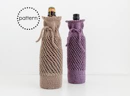 wine bottle gift bag knitting pattern instant download pdf