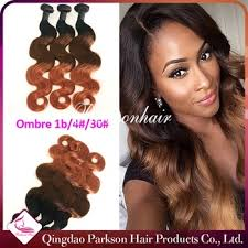 picture of hair sew ins brazilian human hair sew in weave 1b 4 30 colored three tone hair