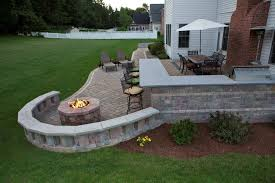 superb design of the green grass backyard ideas with grey rock