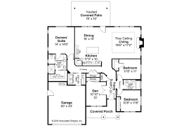 Single Story Ranch House Plans Ranch House Plans Weston 30085 Associated Designs Ranch Floor