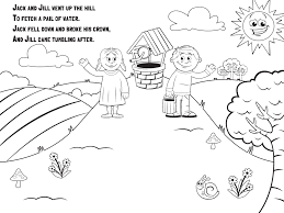 nursery rhyme coloring pages project for awesome jack and jill