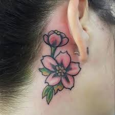 behind the ear tattoo 55 different suggestions