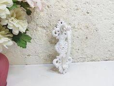 Shabby Garden Decor Small Shabby Chic Bird Cast Iron Distressed Drawer Pull Knob