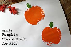 apple pumpkin stamps craft for kids life with heidi
