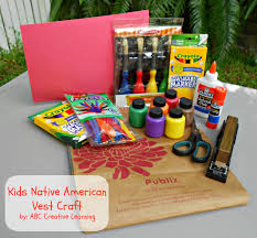 kids native american vest craft mom it forwardmom it forward