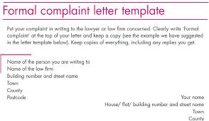 complaints letter template