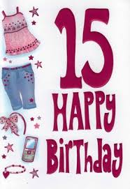 selective girls special age 15 happy 15th birthday card
