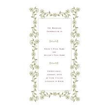 one page wedding program template free wedding program templates de stress your wedding planning
