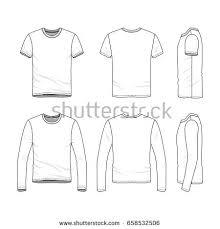 vector clothing templates blank shirts short stock vector