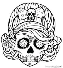 sugar skull coloring pages free skull coloring pages for adults as
