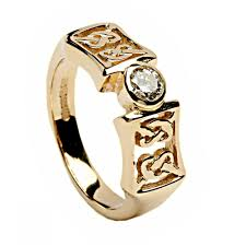 Irish Wedding Rings by Irish Gold And Diamond Ring Celtic Knots 14k Gold