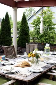 Patio Table Decor 12 Stylish Porch Deck And Patio Decor Ideas Setting For Four