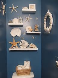 nautilus decoration in beach bathroom themed great and natural