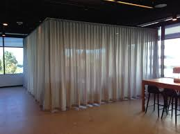 Office Partition Curtains Ripplefold Draperies Interior Services