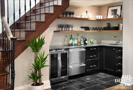 Wet Bar Sink And Cabinets Wet Bar Under Staircase Cottage Kitchen