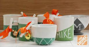 Gift Mugs With Candy Diy Gift Ideas Chalkboard Mugs The Home Depot