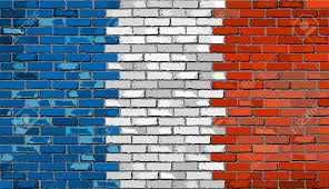 French Flag Background Grunge Flag Of France On A Brick Wall French Flag On Brick
