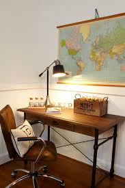 Roll Top Desk Lamp Gorgeous Boy U0027s Room With Vintage Roll Down World Map Hung Over An