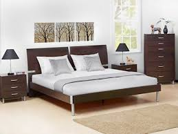 Dania Bed Frame Dania Clean Modern Lines With A Split Headboard And Low Platform