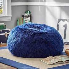 Navy Accent Chair Pb Navy Fur Rific Beanbag Small Slipcover Insert Featuring