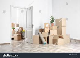 packed household stuff moving into new stock photo 564626791