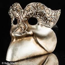 venetian masquerade masks masquerade mask bauta stucco silver
