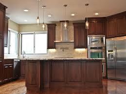 poplar kitchen cabinets formal kitchen clear poplar with a dark walnut stain molner homes