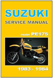 suzuki workshop manual pe175 1983 u0026 1984 vmx maintenance service