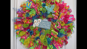 summer wreath how to make a summer curly deco mesh wreath