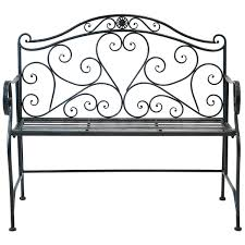 Wrought Iron Bench Seat Bentley Garden 2 Seater Wrought Iron Bench Metal Outdoor Seat