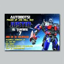 transformers birthday amazing transformers party invitation template and prime