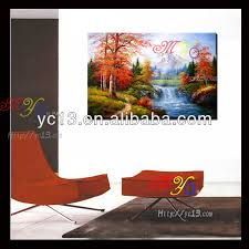 paintings for home decor fabric painting supplies village scenery oil painting for home