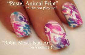 3 nail art tutorials pastel leopard print nail art design