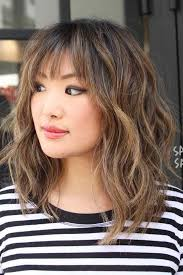 pictures of medium haircuts for women of 36 years 36 ideas for medium length hairstyles with bangs hair trends