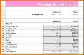 wedding budget planner wedding budget list expense report