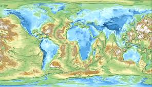 Etsy World Map by Inverted Earth The World Mapped By Inverted Elevation Album On