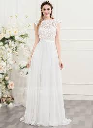 chiffon wedding dress best 25 chiffon wedding dresses ideas on simple lace
