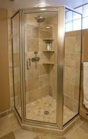 corner shower with glass tile privacy window salle de bain
